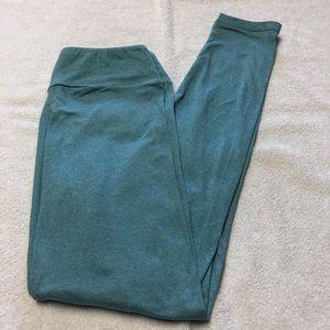 LuLaRoe solid heather blue leggings NWOT OS